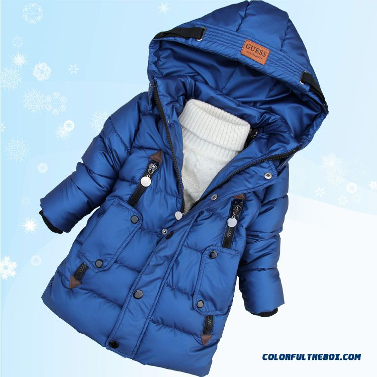 Promotion New Arrival Boys Kids Hooded Jacket Medium-long Style Free Shipping - more images 1