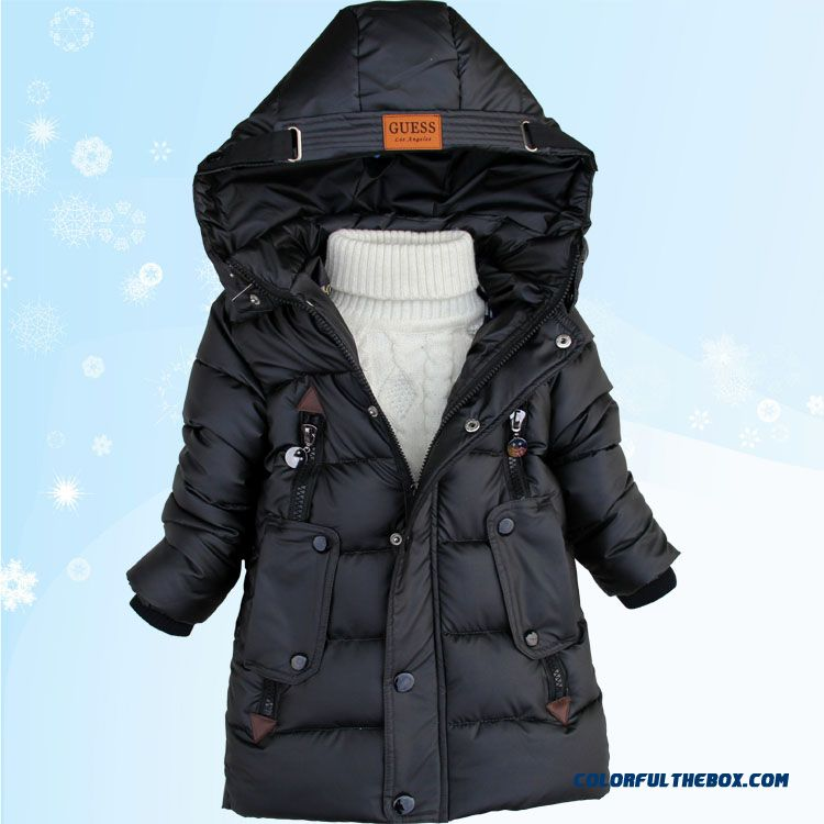 Promotion New Arrival Boys Kids Hooded Jacket Medium-long Style Free Shipping - more images 2