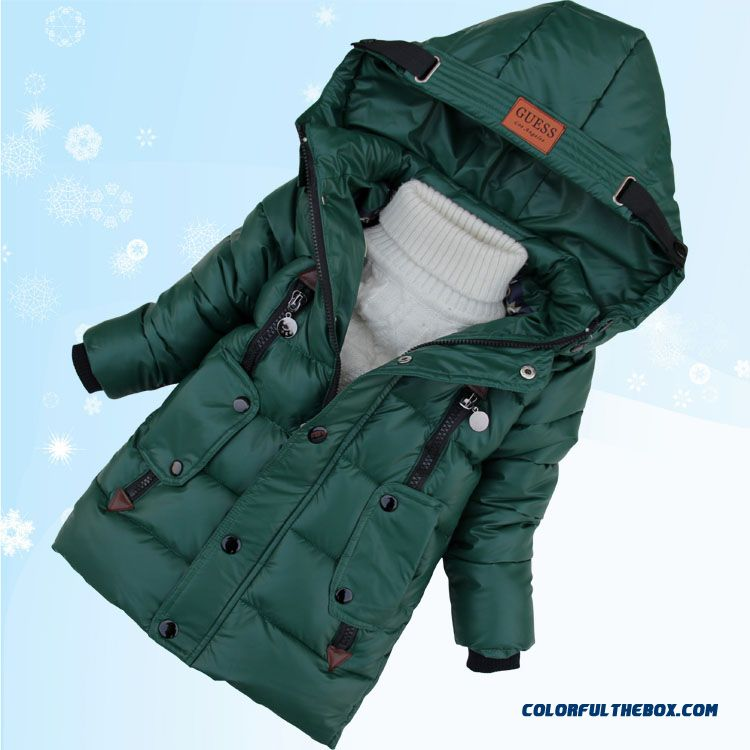 Promotion New Arrival Boys Kids Hooded Jacket Medium-long Style Free Shipping - more images 3