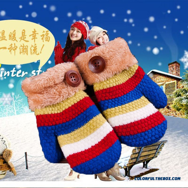 Promotion New Arrival Gloves Kids Boys Girls Wool Mittens Kids 5-12 Years Old Students' Mittens