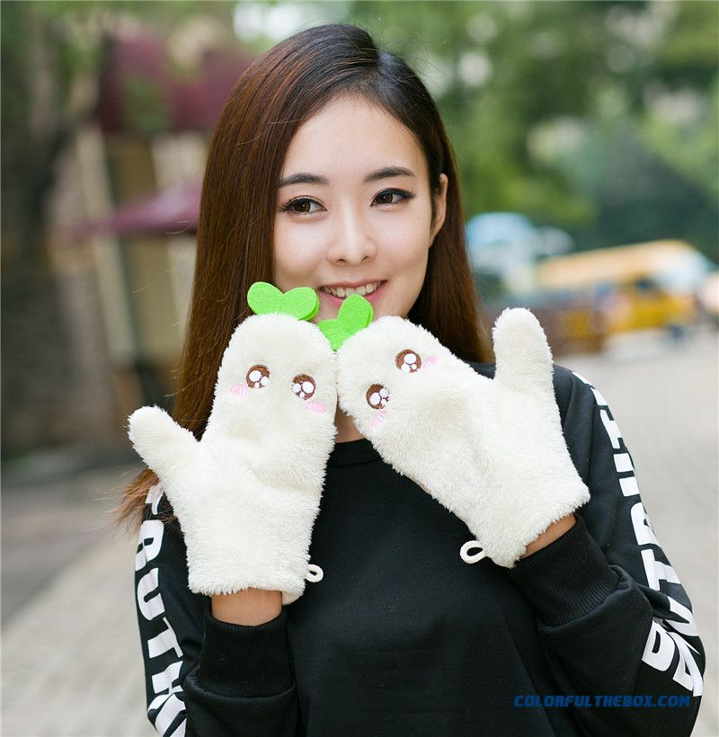 Promotion New Arrival Lovely Cartoon Gloves Student Women Mitts Cotton Gloves