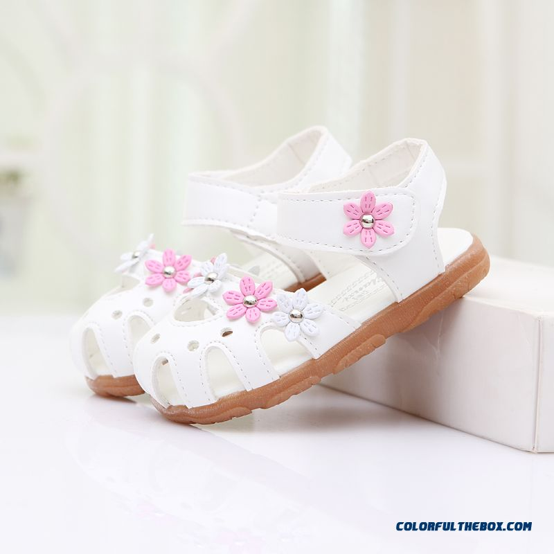 Pu Leather Sandals Flowers Girls Kids Shoes 1-5 Years Old Free Shipping