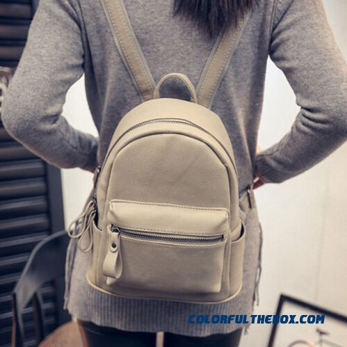 Cheap Pu Simplicity College Style New Casual Mini Backpack Women ...