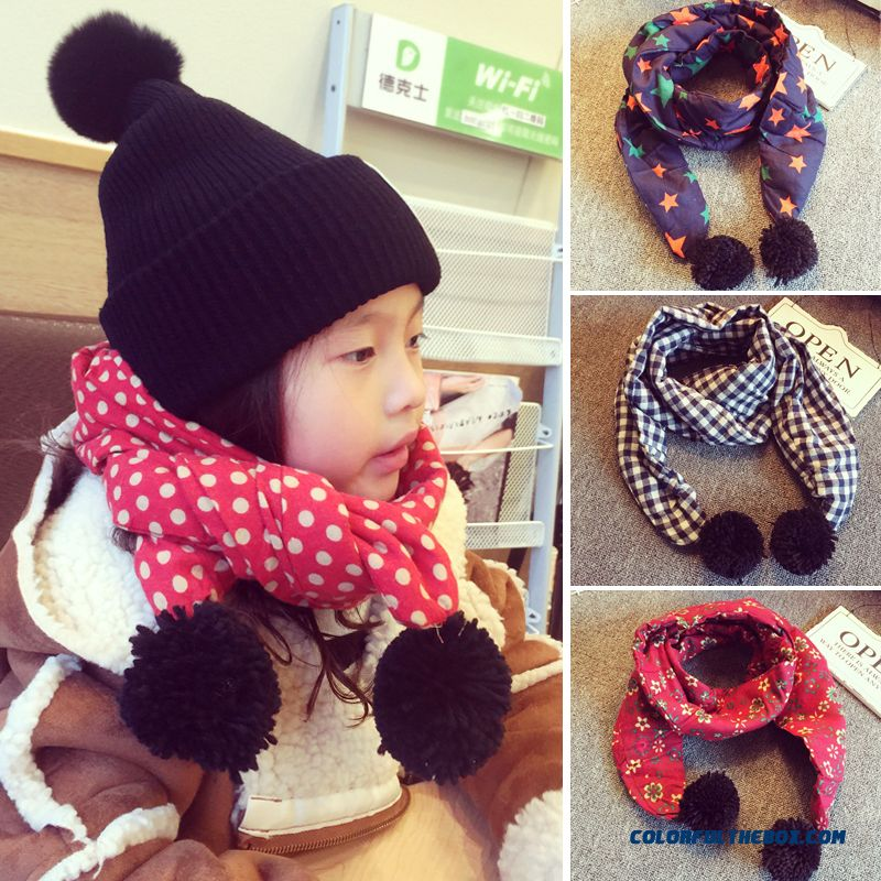 Quilted Retro Baby Bib Girls Fall And Winter Thick Scarves Cotton And Linen Kids Neck Wrap