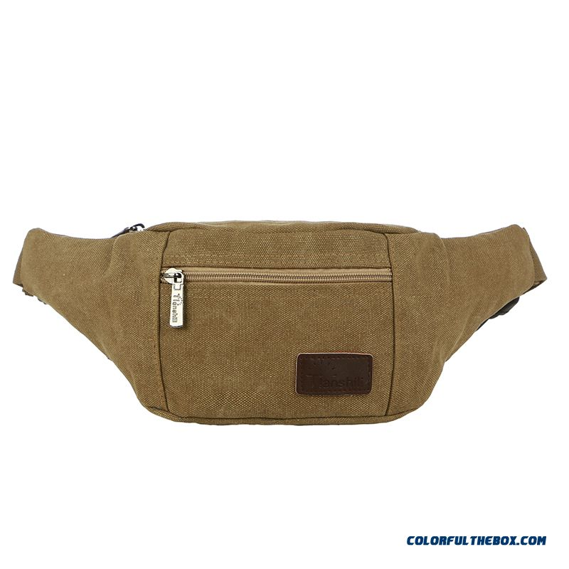 Recreational Sports Ride Running Phone Package Men's Waist Packs Multifunction Canvas Bag
