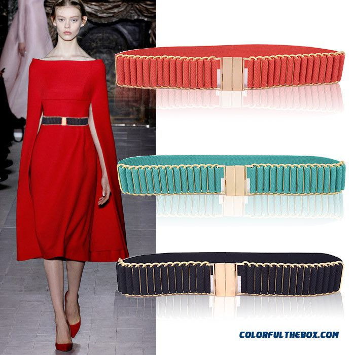 Ree Shipping Elastic Cummerbunds Belt All-match Decorative Cummerbunds Girdle Skirt Women Accessories