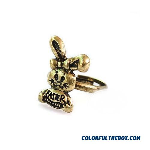Retro Jewelry Wholesale Korean Version Of The Trend Fashion Personality Small Rabbit Women Ring Opening
