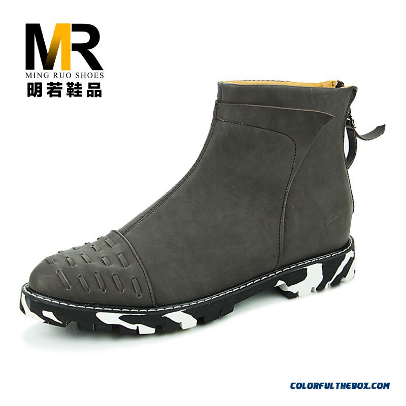 Retro Martin Boots Men British Style Winter Boots With Zipper