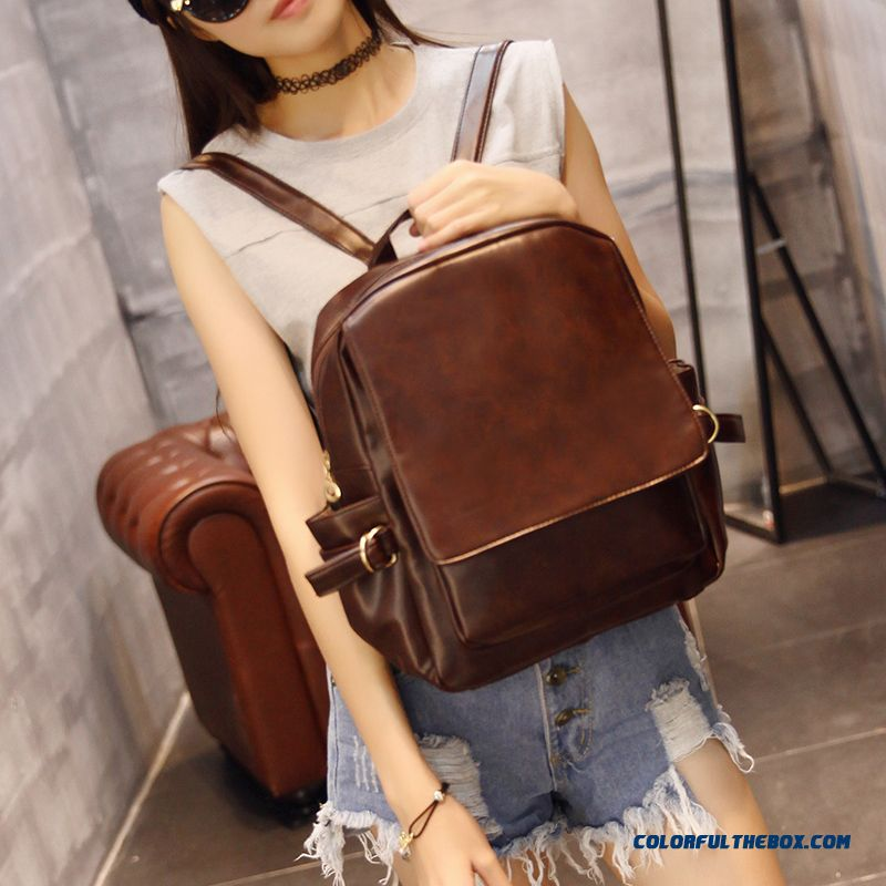 ee9ba231c82d Retro Shoulder Bags College Style Casual Backpack Large Capacity Travel  Women s Bags