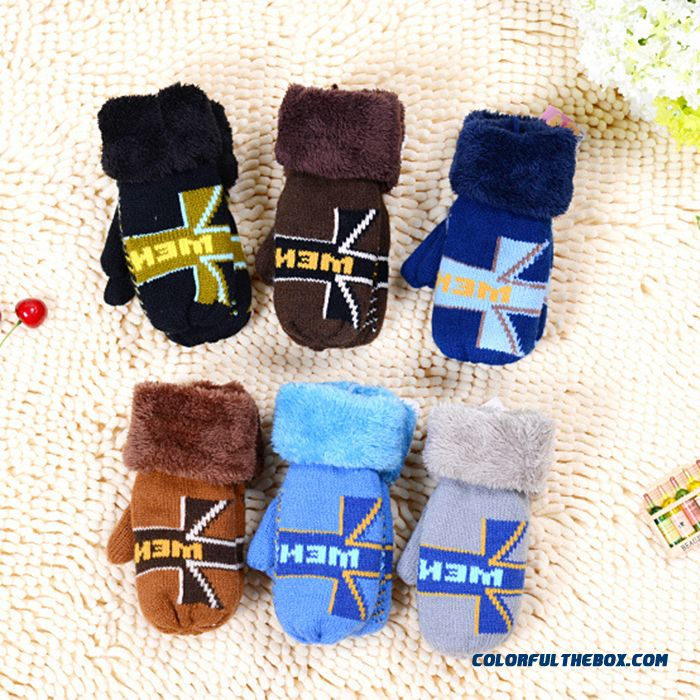 Romantic Winter Warmth Girls Kids Prefer Plus Thick Cashmere Wool Knitted Mittens