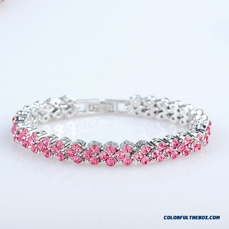 Rome Zircon Crystal Bracelet Wholesale Fine Jewelry Accessories For Women