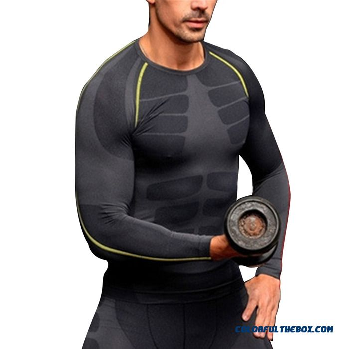 Running Gym Fitness Sport Shirt Tops M L Xxl Mens Compression Base Layer Workout T-shirts High Quality