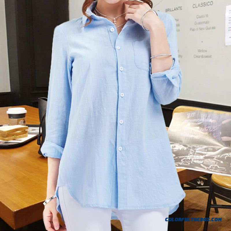 S-xxxl Textured Fluid Systems Medium-long Plus Size Women Dress Shirts