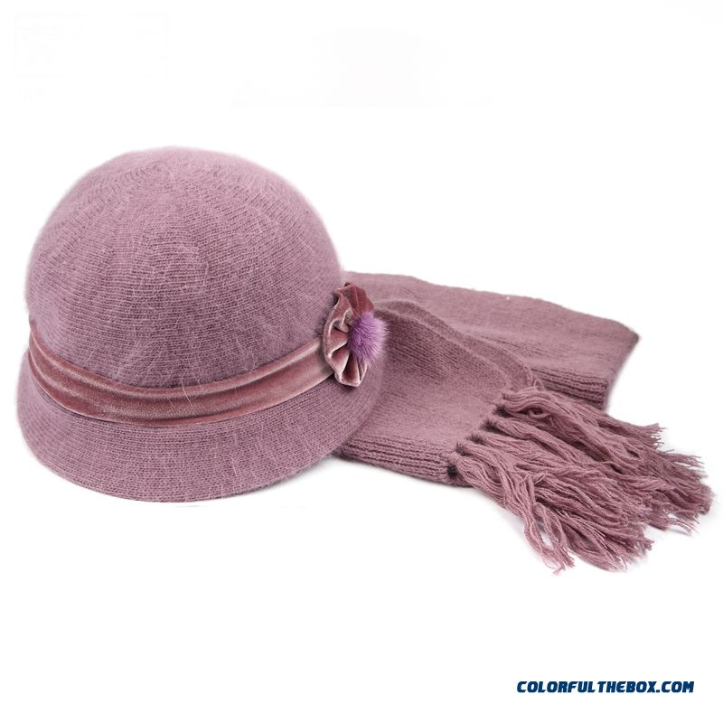 Sale On Accessories Middle-aged Rabbit Winter Hat Elderly Women Hat Scarf Set Free Shipping