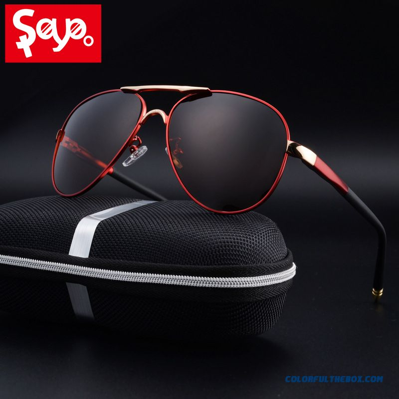 Saylayo Hd Polarized Sunglasses Men Vintage New Male Cool Driving Sun Glasses Eyewear Uv400 Protection Shades For Women