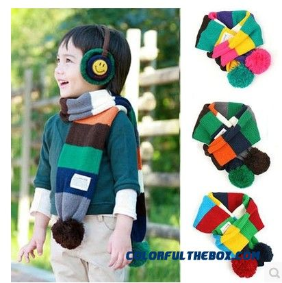 Selling Kids Scarves Wholesale Fashion Boys Neck Scarves Girls Autumn And Winter Wool Knitted Babies Scarves