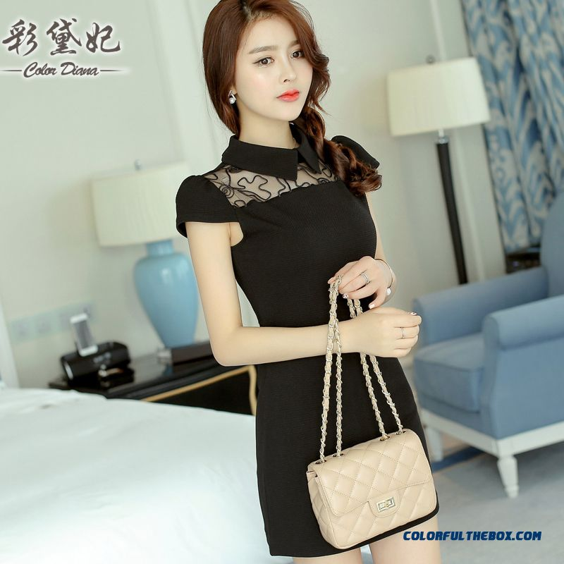 Sexy Fashion Slim Thin Cheap Short-sleeved Women Dress Summer