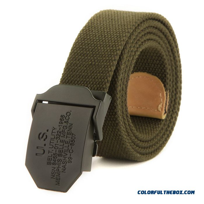Simple And Durable Automatic Smooth Buckle Canvas Belt Outdoor Belt For Men Young