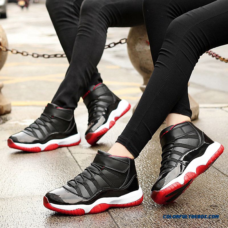 Simple Fashion Thick Bottom Antiskid Couple Shoes Men Basketball Shoes - more images 4