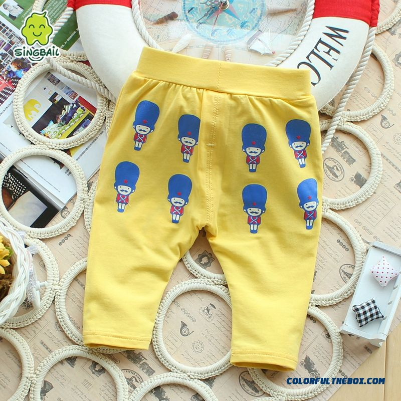Singbail Baby Summer Casual Pants Korean Version Of Boy Fifth Pants Thin Kids Pants
