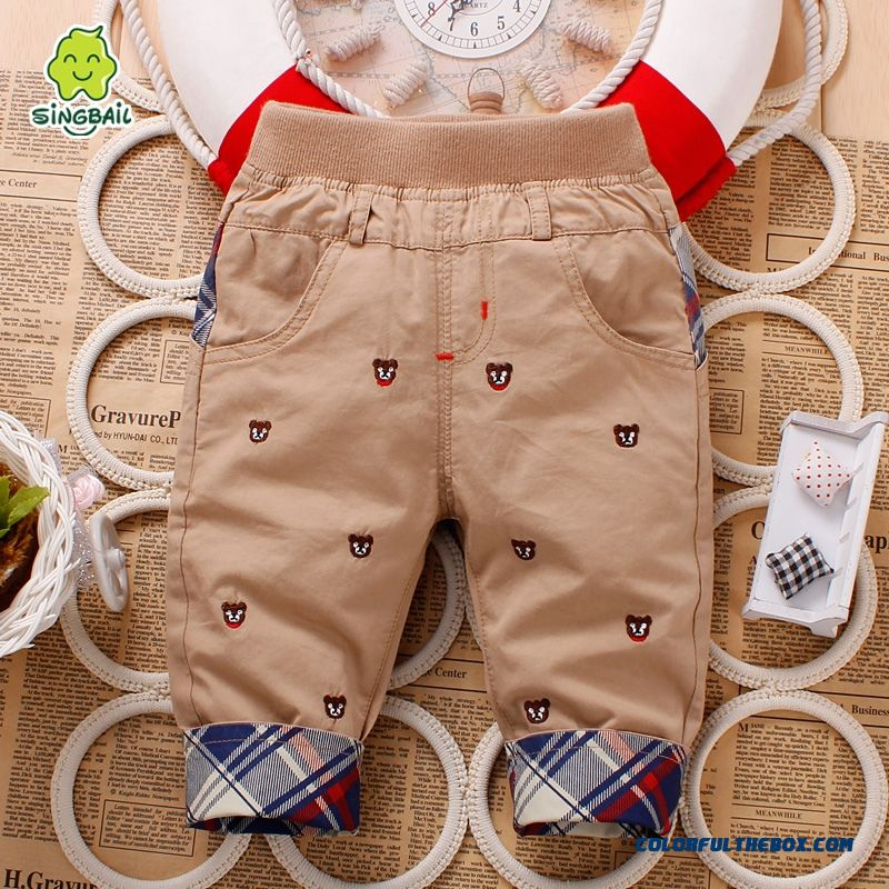 Singbail Spring Cotton Baby Kids Long Pants 1-2-3 Years Old Boys Pants