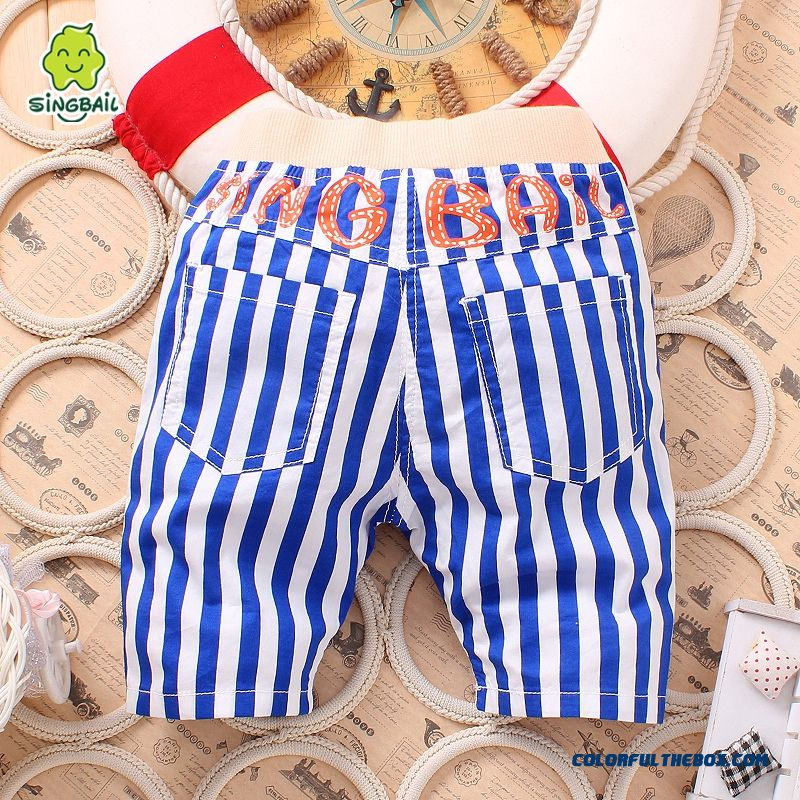 Singbail Summer Baby Pants 1-2 Years Old Boys And Girls Casual Pants Kids Fifth Pants - more images 1