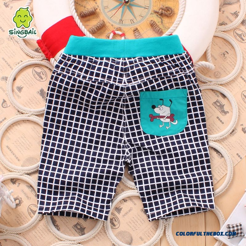 Singbail Summer Baby Pants 1-2 Years Old Boys And Girls Casual Pants Kids Fifth Pants - more images 2
