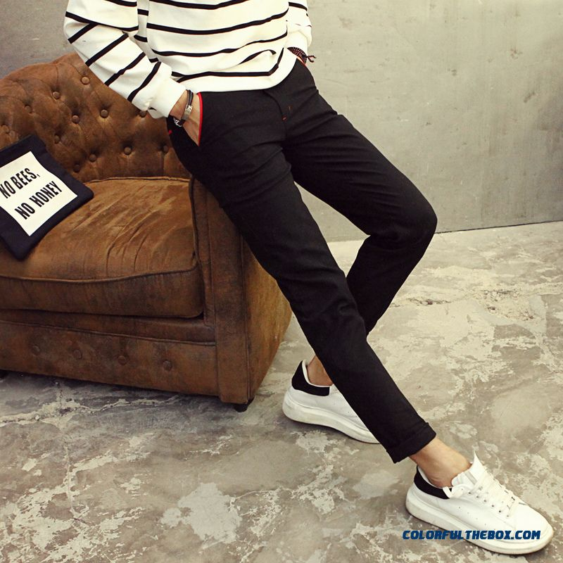 Slim Casual Men Pants Special Offer Free Shipping Cotton Elastic Straight Large Size Size