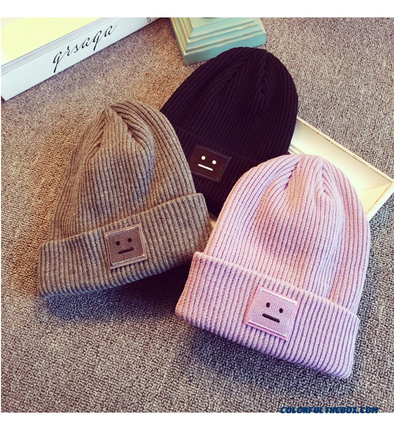 Smile Cap Western Style In Europe And America Kids Hats Baby Autumn And Winter Wool Cap Kinted Latest Arrival Accessories