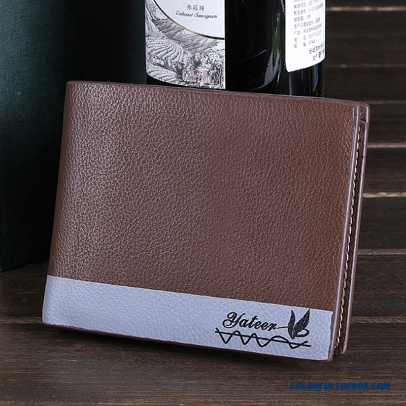 Smooth And Delicate Horizontal Section Thin Wallets Bags Multi-card Business Casual Fashion Wallets For Men
