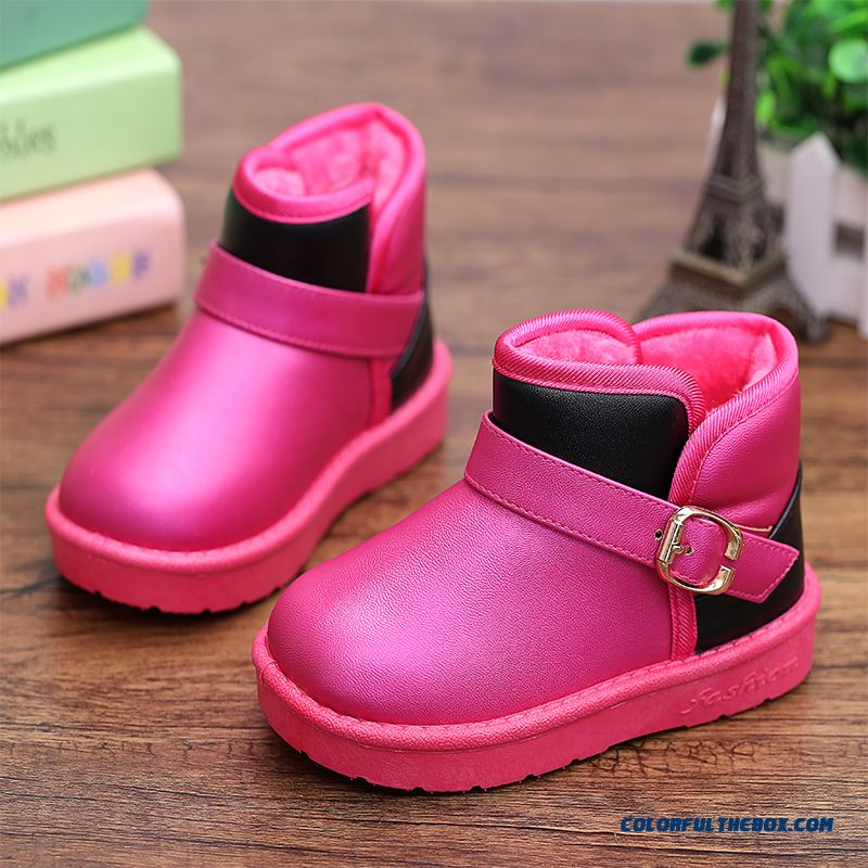 Snow Boots Girls Waterproof Slip Baby Princess Cotton Shoes For Kids