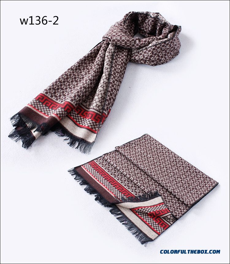 Soft Skin-friendly Korean Style Men's England Grid Scarves On Sale Winter Accessories