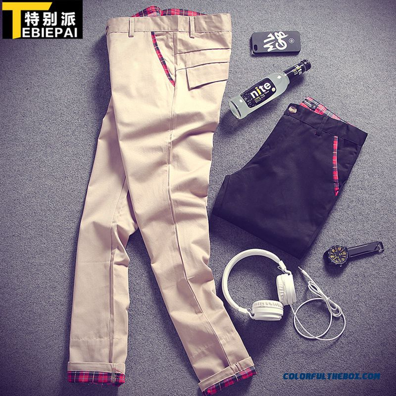 Special Clearance Autumn New Cotton Casual Straight Long Slim Men Pants - more images 1