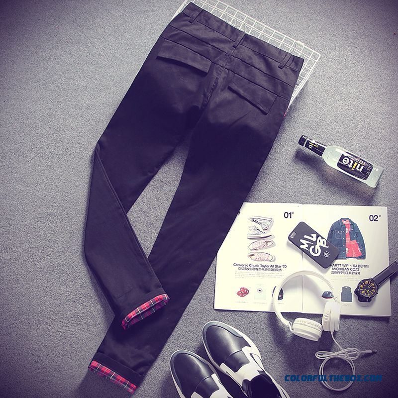 Special Clearance Autumn New Cotton Casual Straight Long Slim Men Pants - more images 4