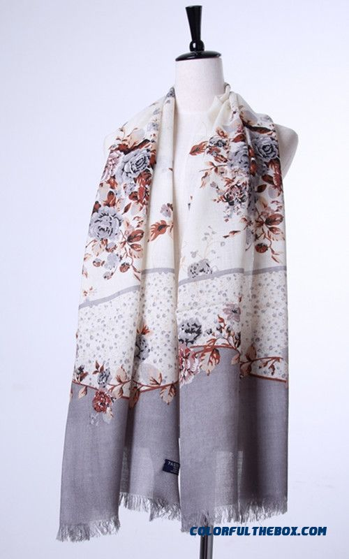Special Clearance Free Shipping Accessories Women Printing Wool Scarves Vogue - more images 2