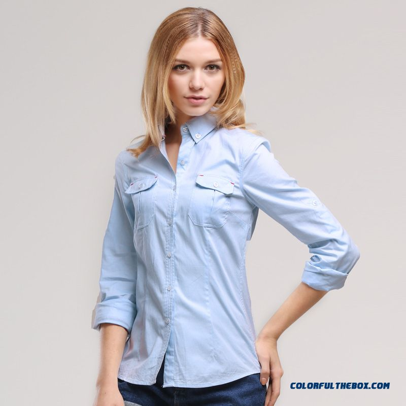 Special Clearance Free Shipping Professional White-collar Long-sleeved Cotton Shirts Women