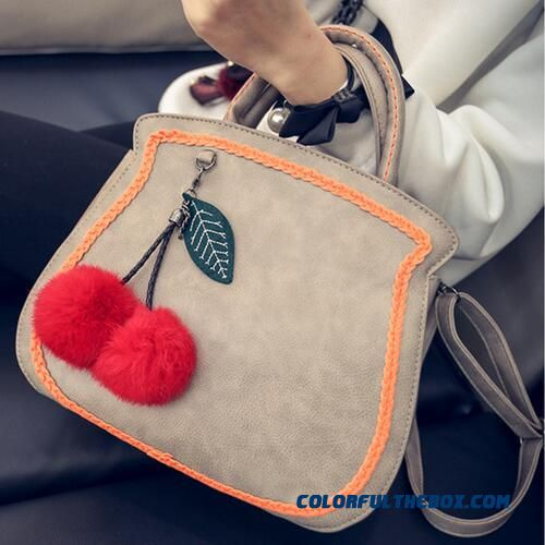 Special Design For Women Personalized Weave Hairball Ornaments Top-handle Bags