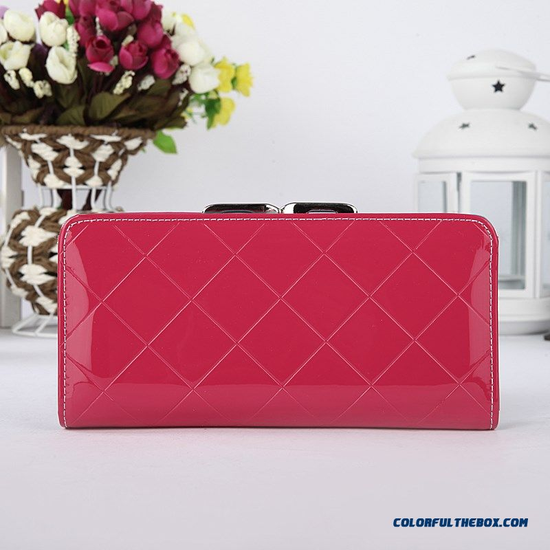 Special Offer Fashion Card Pack Diamond Lattice Small Clutch New Women's Purse Wallet Tide