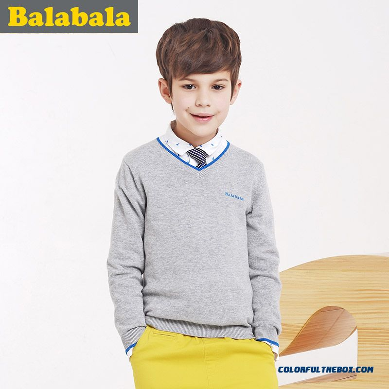Special Offer For Boy Sweater V- Neck Spring New Kids' Clothing Red Green Grey Blue Colors