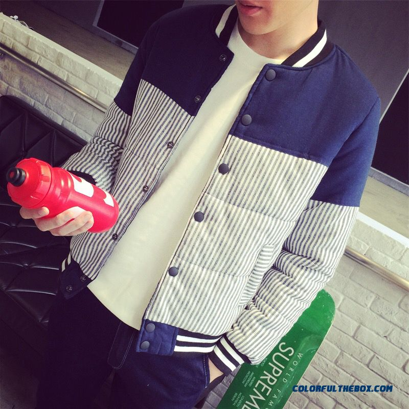 Special Offer Free Shipping Autumn Winter Men Striped Baseball Uniform Coats