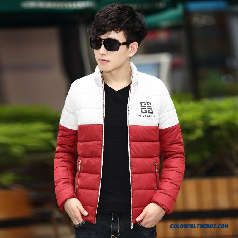 Special Offer Free Shipping Men Thicken Splice Slim Red White Luxury