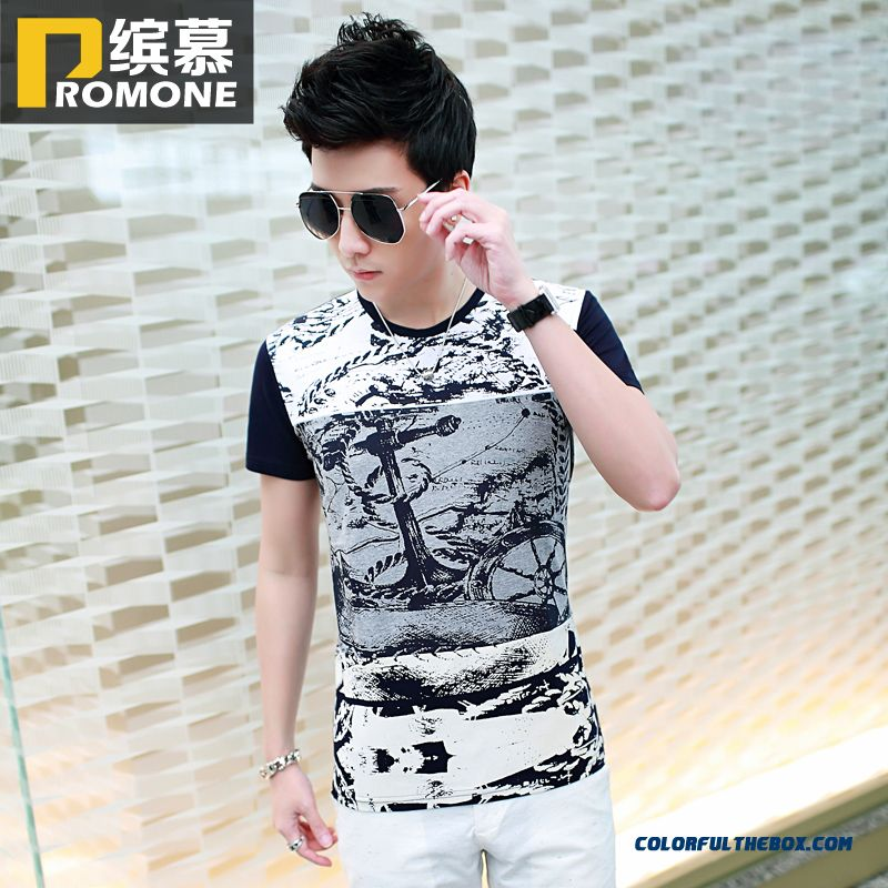 Special Offer Summer Men's Short-sleeved Tees Slim Tide Free Shipping
