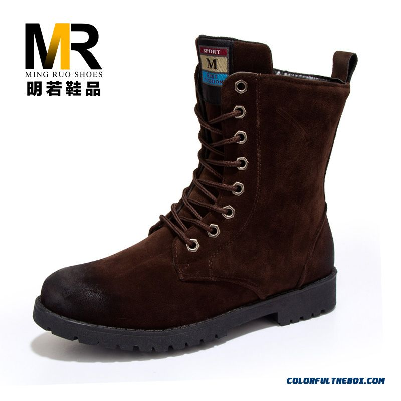 Special Offer Winter Warm Men Boots Laced Plus Velvet Fashion Shoes