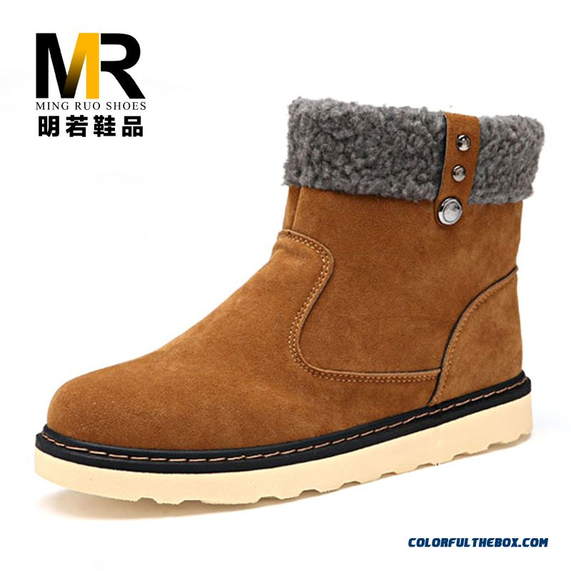 Special Offer Winter Warm Men Snow Boots Fashion Free Shipping - more images 2