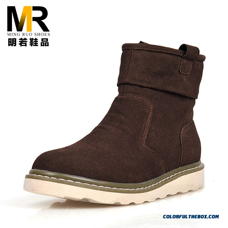 Special Offer Winter Warm Men Snow Boots Plus Velvet Short Shoes