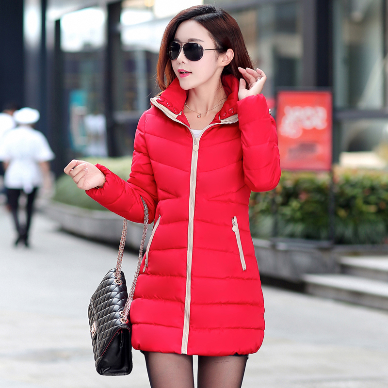 Special Offer Women's Hooded Coat 2015 Winter New Down Jacket Thicken Large