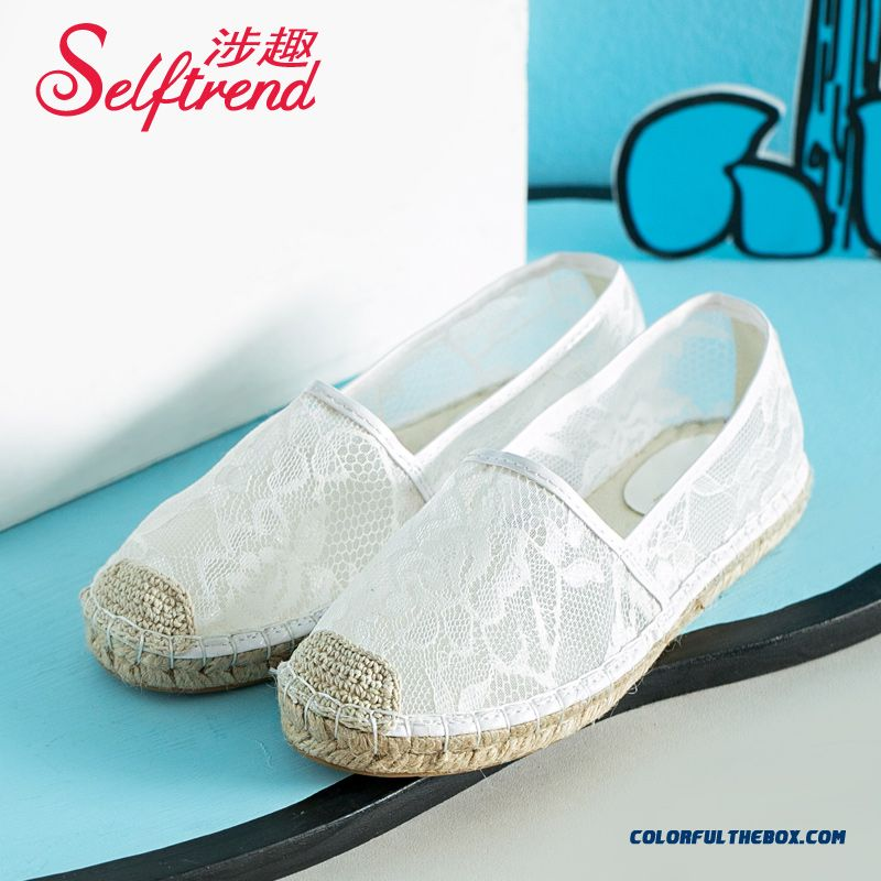 Special Offre New Lei Mesh Yarn Women Flat Shoes Free Shipping