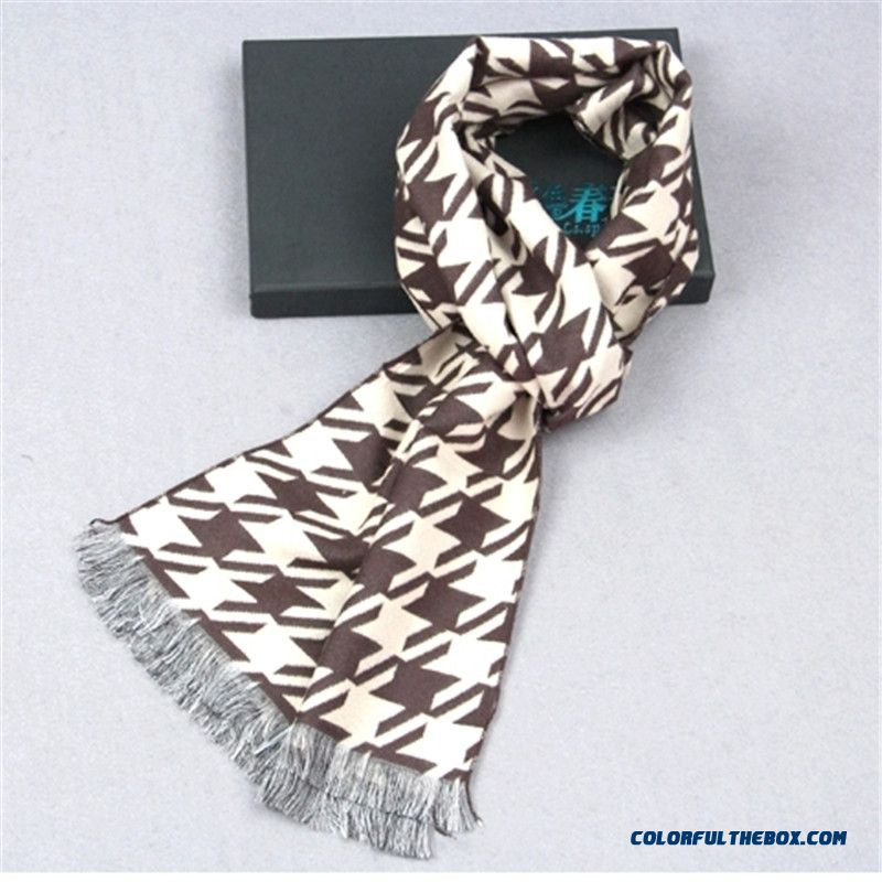 Specially Designed Classic Men's Fringed Scarves Mode High Quality On Sale In Winter