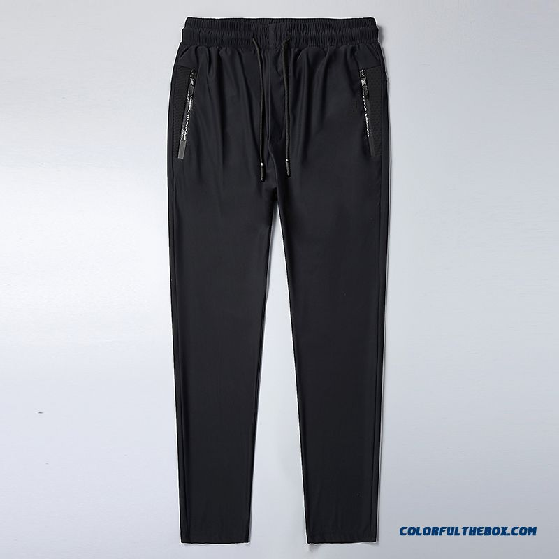 Sport Large Size Straight Loose Black Breathable Summer Pants Men's Leisure Quick Dry Ultra Trousers