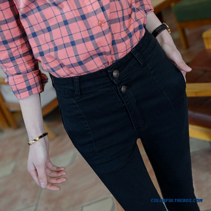 Spring And Autumn New Women Leggings Jeans Stretch Pants Slim And Thin Pencil Pants